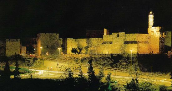 80-111106 Tower of David at Night, Jaffa Gate