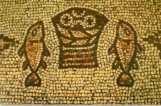 85-110706 Mosaic, Tabgha, Miracle of Loaves and Fishes PC